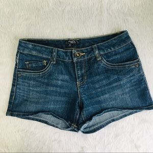 Women's sequin hearts denim shorts sz 5
